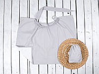 Накидка для годування + сумочка-чохол, Сіра, фото 1