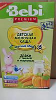 Каша молочная Bebi Premium злаки с тыквой и морковью 200 г 1105016