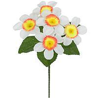 Искусственные цветы букет Нарцисс цветной бордюр , 21 см, фото 1