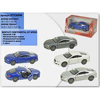"Машина Kinsmart  ""Bentley Continental GT Speed"" KT5369W"