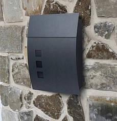 Почтовый ящик для писем и газет для частного дома SN3649 (антрацит)