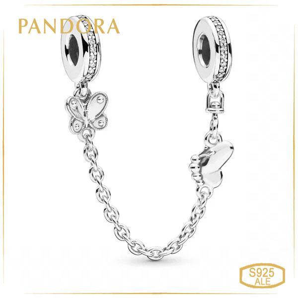 Пандора Защитная цепочка Декоративные бабочки Pandora 797865CZ