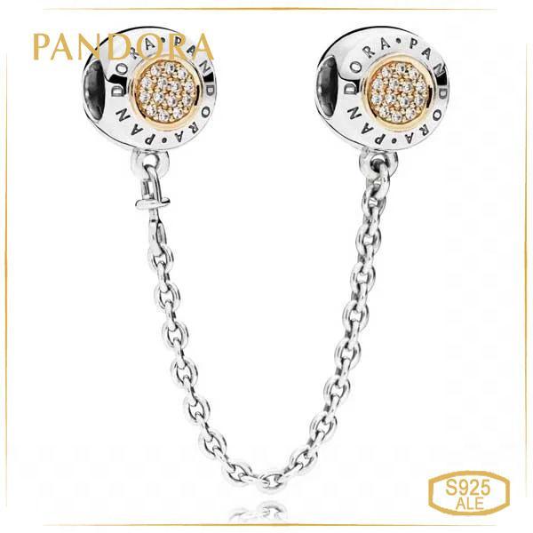 Пандора Соединительная цепочка Pandora логомания позолота 796269CZ_p