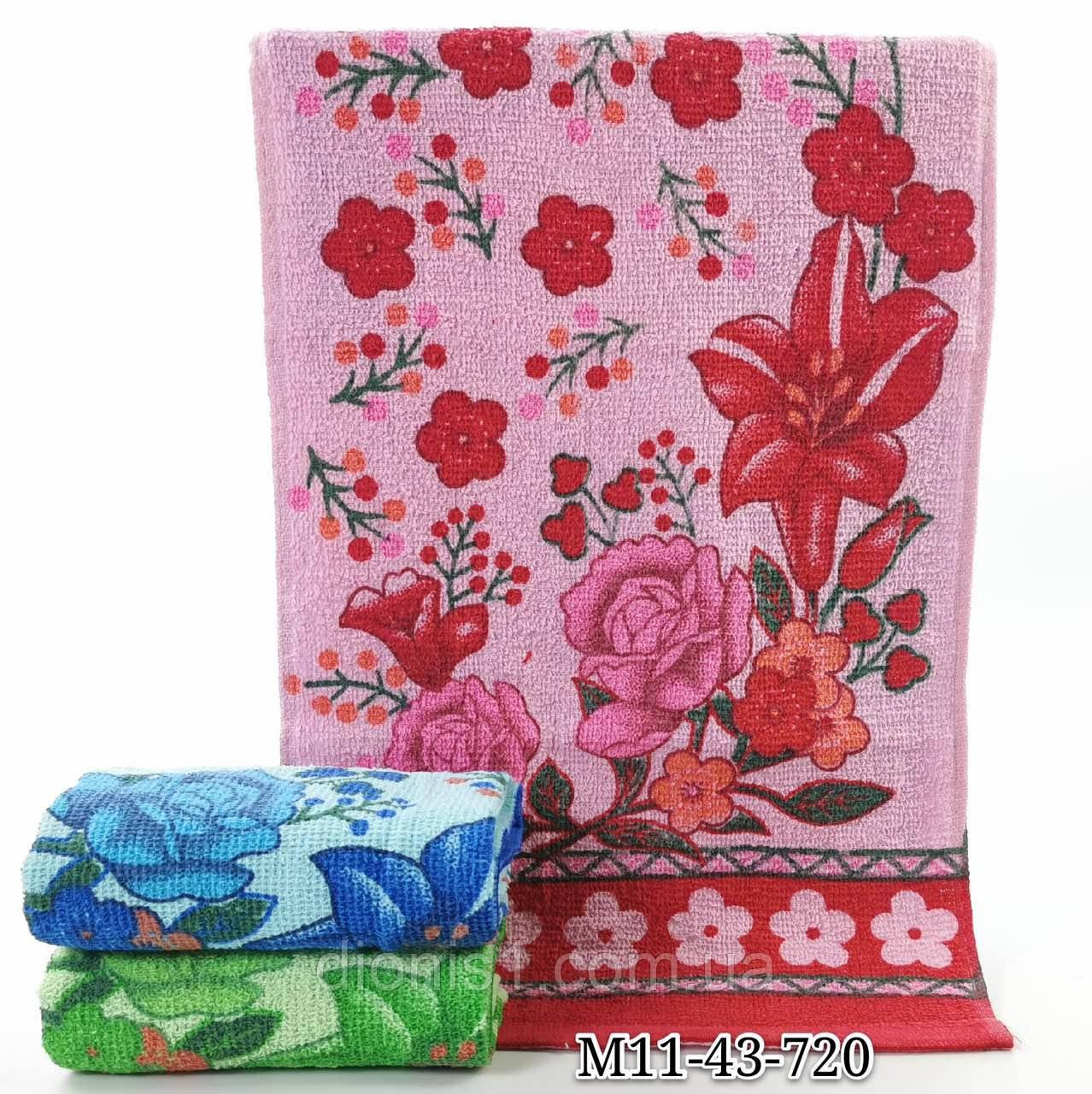 Кухонний рушник Квіти в букеті у ассортименте12 шт в уп. Розмір 35х70 100% бавовна