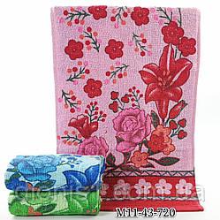 Кухонное полотенце Цветы в букете в ассортименте12 шт в уп. Размер 35х70 100% хлопок