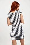 Платье-туника мини без рукавов в полоску (2 расцветки, р.XS,M), фото 5