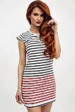 Платье-туника мини без рукавов в полоску (2 расцветки, р.XS,M), фото 6