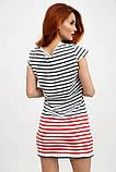 Платье-туника мини без рукавов в полоску (2 расцветки, р.XS,M), фото 9