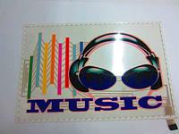 """Неоновый Авто эквалайзер / автоэквалайзер """"MUSIC"""" на заднее стекло автомобиля, размером 45*30 см"""