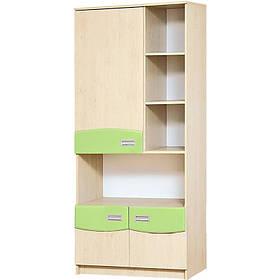 Книжный шкаф в детскую комнату из ДСП и МДФ Терри Клен/Фисташка Світ меблів
