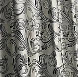 Готовые жаккардовые шторы Шторы с люрексом Жаккардовые шторы Шторы серые  на тесьме, фото 6