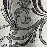 Готовые жаккардовые шторы Шторы с люрексом Жаккардовые шторы Шторы серые  на тесьме, фото 9