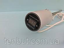 """Тэн в алюминиевую батарею с цифровым терморегулятором левая резьба 1.5 кВт./1"""" дюйм /L-460мм. Украина GREPAN"""