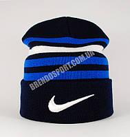 Шапка Nike двойная черно-синяя, фото 1