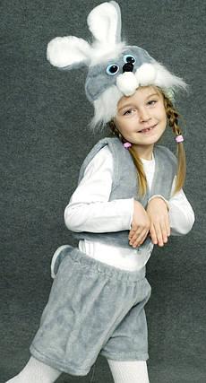 Карнавальний костюм сірого зайчика, фото 2