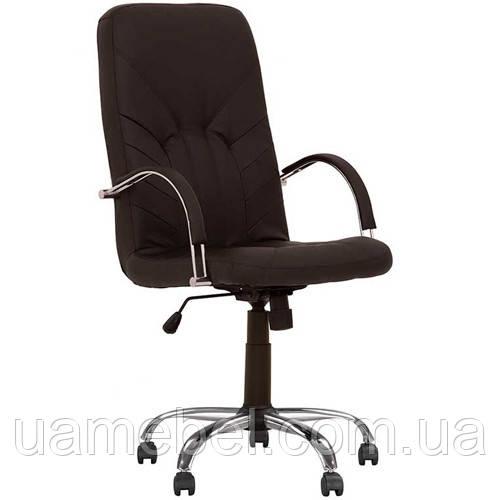 Крісло для керівника MANAGER (МЕНЕДЖЕР) STEEL CHROME COMFORT