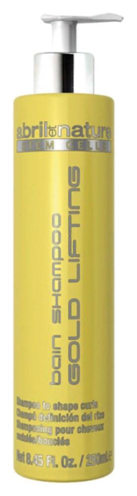 Шампунь со стволовыми клетками для вьющихся волос Abril et Nature Stem Cells Bain Shampoo Gold Lifting