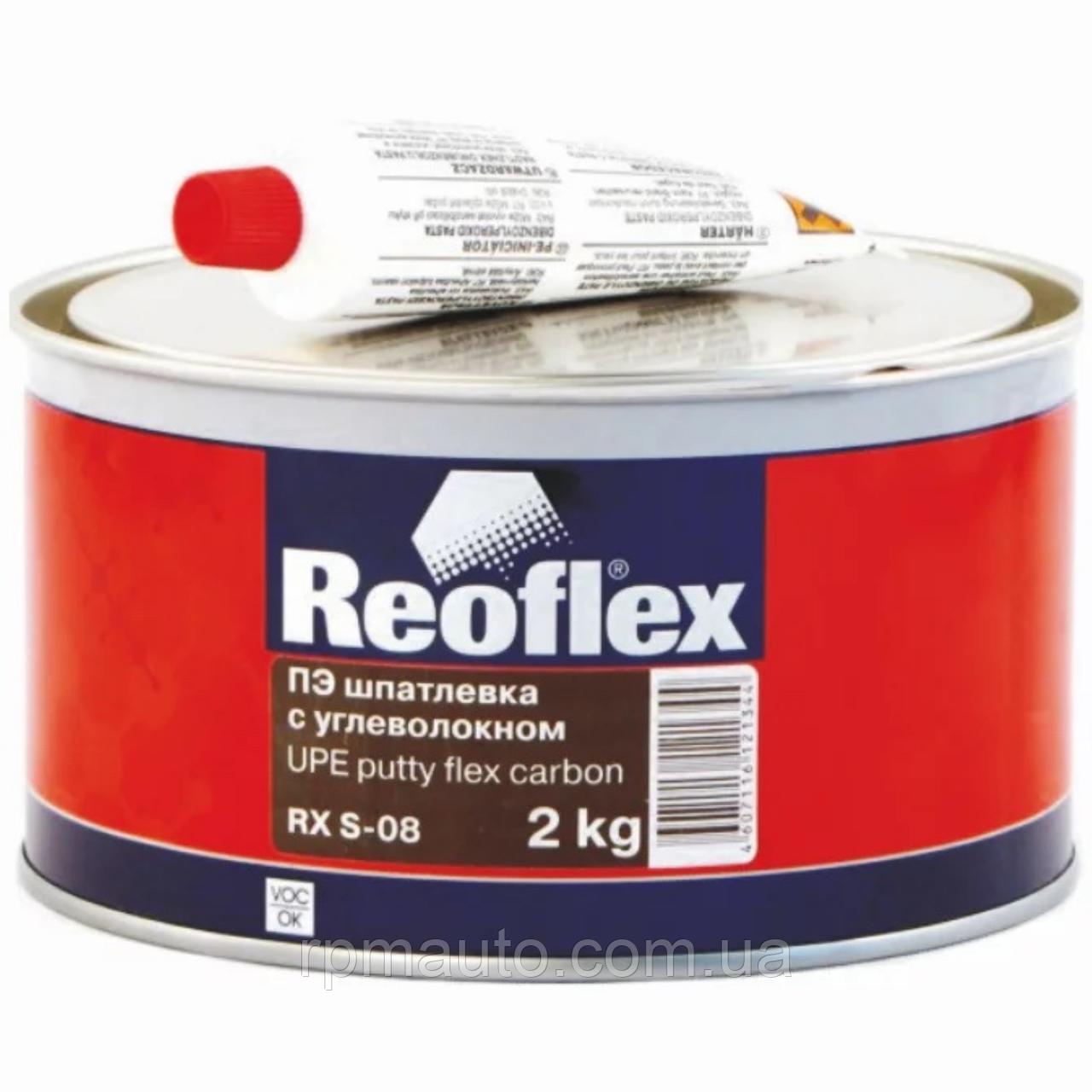 Шпаклівка з Вуглеволокном Наповнює Поліефірна REOFLEX Putty Flex Carbon RX S-08 Шпаклівка для Авто