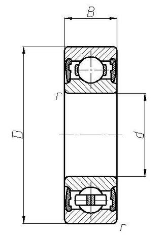 Підшипник  6006 2RS (180106)  SKF, розміри:30*55*13, фото 2