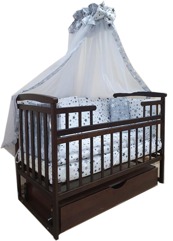 """Акция! Комплект для сна """"Лодочка темная"""". Кроватка маятник + матрас + постель. Ящик + 660 грн."""