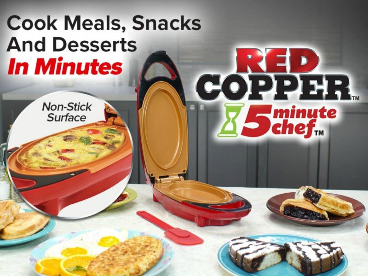 Электрическая скороварка с антипригарным покрытием Cooper Red 5 minuts