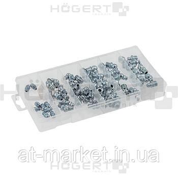 Набор смазочных ниппелей, 110 шт. HOEGERT HT8G511