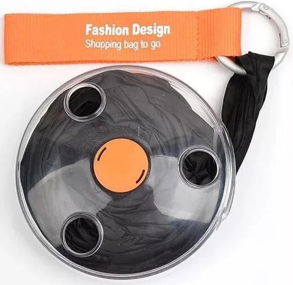 Складная компактная сумка-шоппер Shopping bag to roll up черный