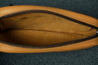 Кожаная барсетка, Кожа Флотар. цвет Карамель, фото 2