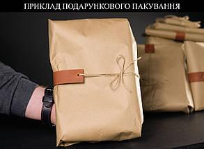 Кожаная барсетка, Кожа Флотар. цвет Карамель, фото 3