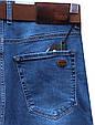 Мужские классические джинсы светло-синего цвета с ремнём HSD, фото 2