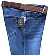 Мужские классические джинсы светло-синего цвета с ремнём HSD, фото 3
