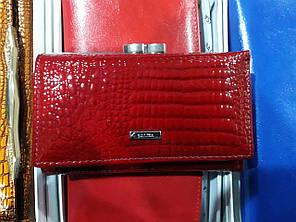Гаманець жіночий шкіряний лаковий маленький червоний на магніті Balisa 711H2, фото 2