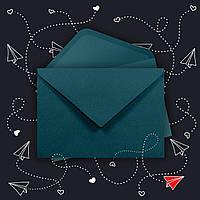 Крафт конверт С6 зелёный ЭКО 80г\м. клапан треугольный, 114*162 мм