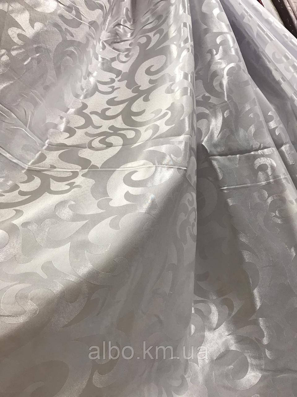 Ткань на метраж жаккардовая белая, высота 2.8м ( С28 - 22 )