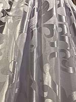 Ткань на метраж жаккардовая белая, высота 2.8м ( С28 - 22 ), фото 6