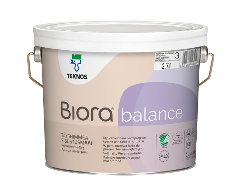 Краска акрилатная TEKNOS BIORA BALANCE интерьерная транспарентная (база 3) 2,7л