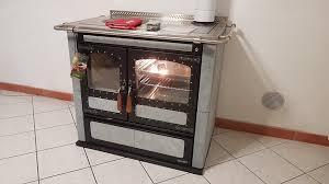 Піч камін з варильною плитою та духовкою Rizzoli L 90 Serpentine (камінь серпантин)