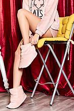 Домашні жіночому уггі, м'які плюшеві саможки, тапочки. Пудрові, ніжно-рожеві