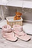 Домашні жіночому уггі, м'які плюшеві саможки, тапочки. Пудрові, ніжно-рожеві, фото 2