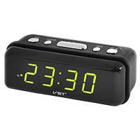 Часы сетевые VST 738-2 зелёные 220V (14,5*5*5см)
