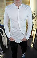 Мужская рубашка белая без ворота/ 7 цветов в наличии
