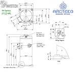 Компрессор спиральный YH266C1-100 Invotech, фото 3