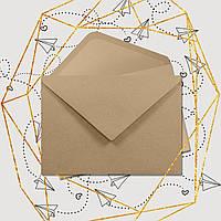 Крафт конверт С7, клапан треугольный, 105*80 мм