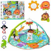 Детский розвивающий игровой музыкальный напольный коврик 63504 коврик для младенца