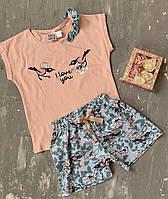 Пижама с шортами на девочку хлопок, фото 1