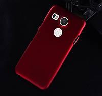 Пластиковый чехол для LG Google Nexus 5X бордовый, фото 1