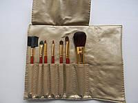 Набор кистей для макияжа 7 шт. на завязках.