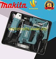 Компактный набор инструмента MAKITA ударная дрель MAKITA HP1630 + лобзик MAKITA 4326+ шлифмашинка MAKITA 5030