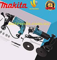 Набор инструмента Makita ударная дрель MAKITA HP1630 + болгарка ТУРБИНКА MAKITA 5030