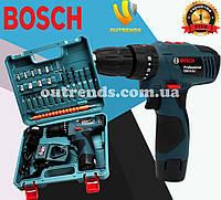 Шуруповерт ударный Bosch TSR12-2LI (12V 3Ah Li-Ion)  с набором инструментов и гибким валом шуруповёрт Бош